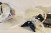 Damen Hut mit Schleier, Hochzeits Huetchen, Hochzeitshut