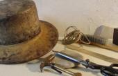Modisten Werkzeug, Hutmacher Handwerkssachen, Holz Hut Form, Hutmacher Hutforme