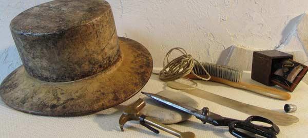Werkzeug einer Hutmacherin, Holz Hut Form, Hutmacher Hutforme